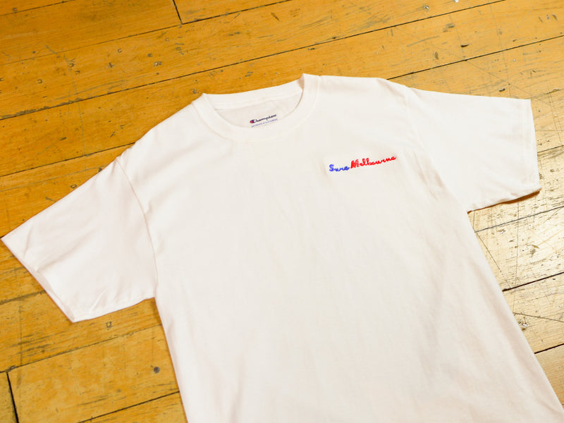 Sure Melbourne Embroidered Champion T-Shirt - White