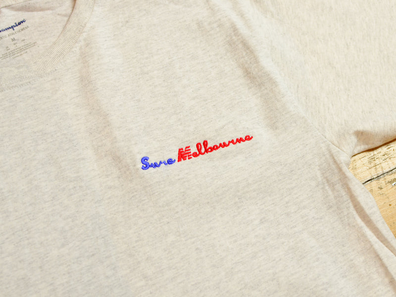 Sure Melbourne Embroidered Champion T-Shirt - Ash