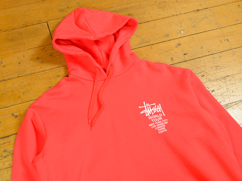 World Tour Hood - Solid Hot Coral