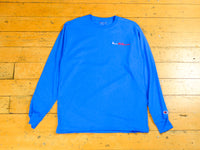 Sure Melbourne Embroidered Champion LS T-Shirt - Royal