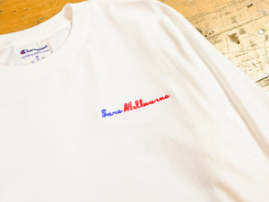 Sure Melbourne Embroidered Champion LS T-Shirt - White