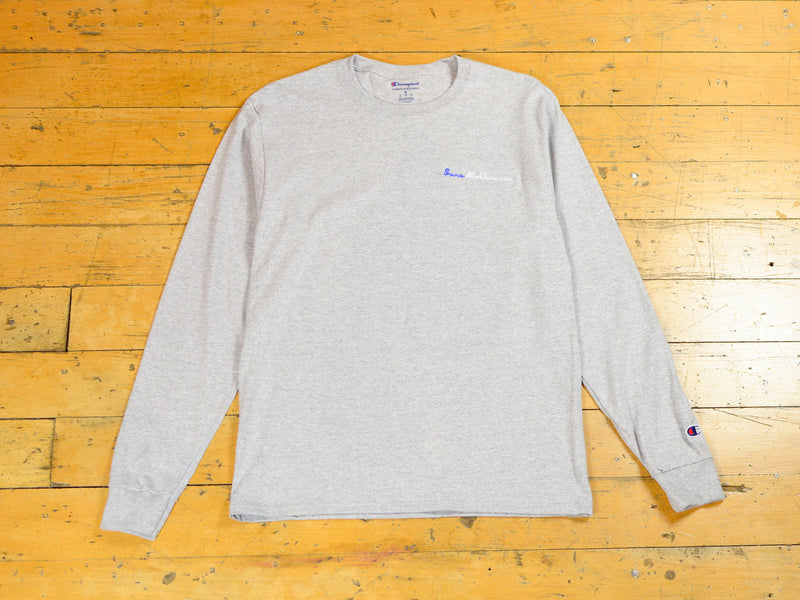 Sure Melbourne Embroidered Champion LS T-Shirt - Athletic Heather