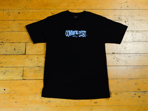 Torn Stars T-Shirt - Black / Light Blue