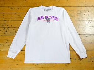 Hang In There LS T-Shirt - White