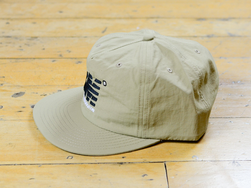 SM Embroidered Nylon Cap - Khaki