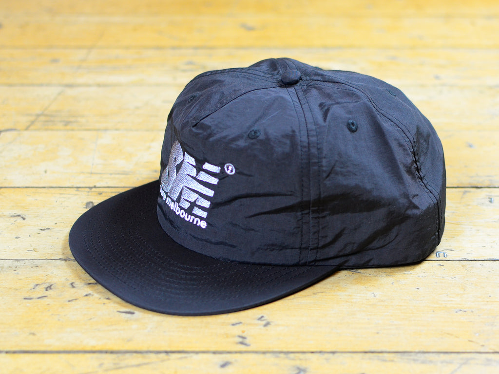 SM Embroidered Nylon Cap - Black