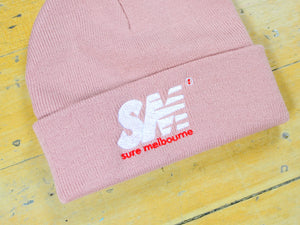 SM Embroidered Beanie - Rose