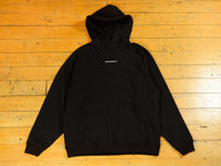 Mono Embroidered Raglan Hoody - Black