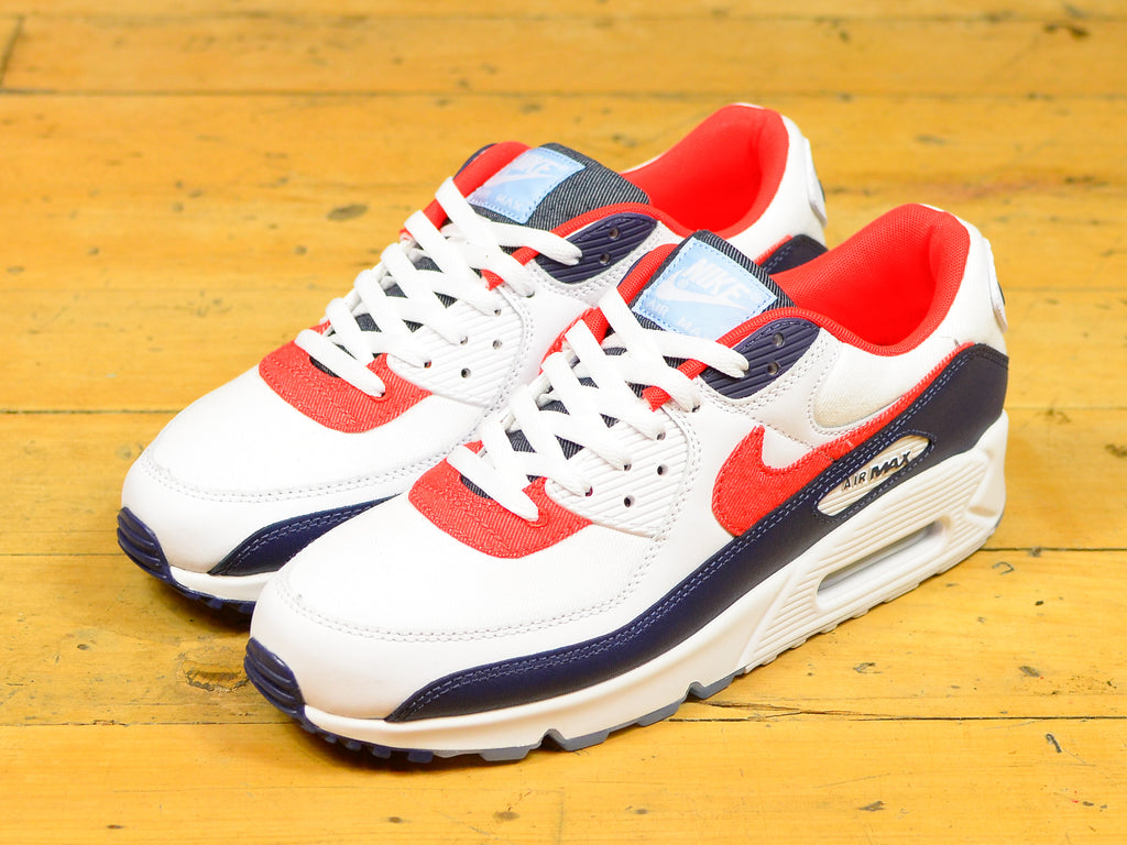 Air Max 90 - White / Chile Red / Midnight Navy