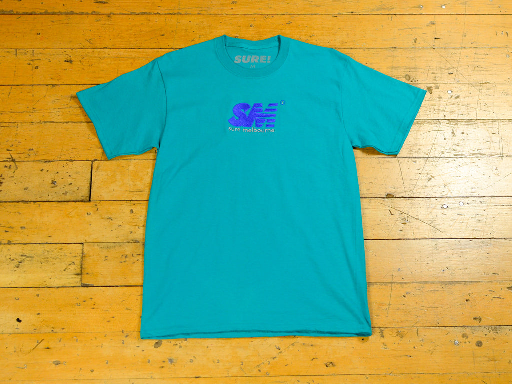 SM Embroidered T-Shirt - Jade Green / Royal