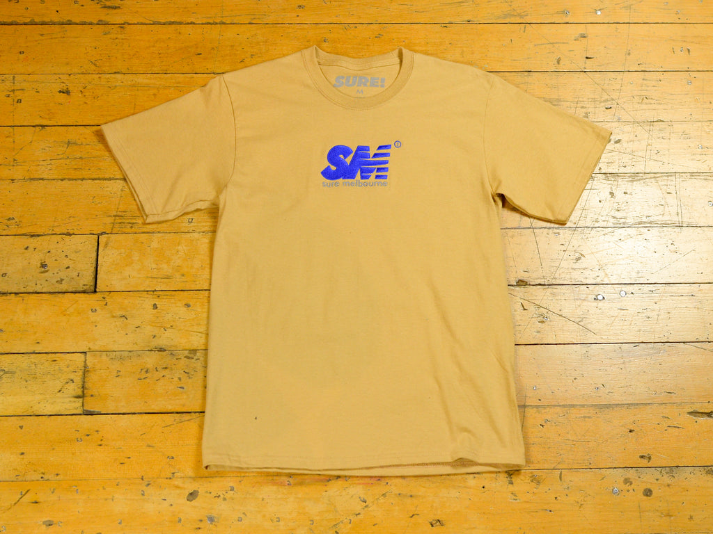 SM Embroidered T-Shirt - Sand / Royal