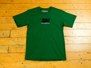 SM Embroidered T-Shirt - Forest Green / Black