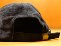 Painter 6 Panel Corduroy Hat - Black