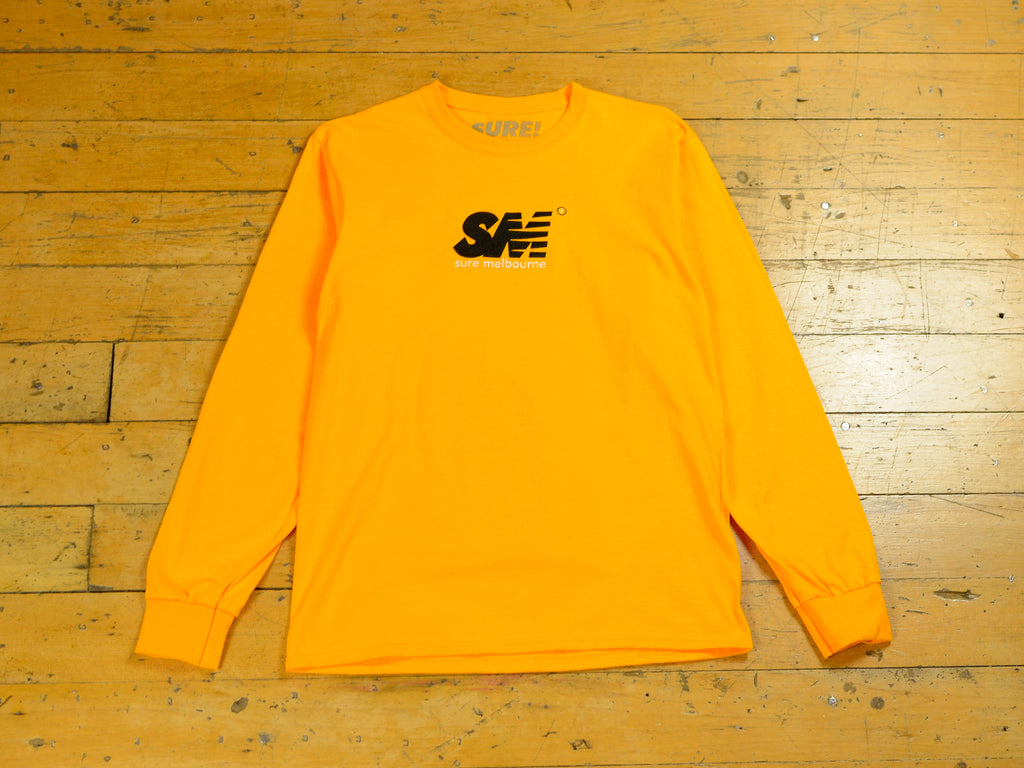 SM Embroidered Long Sleeve T-Shirt - Gold / Black