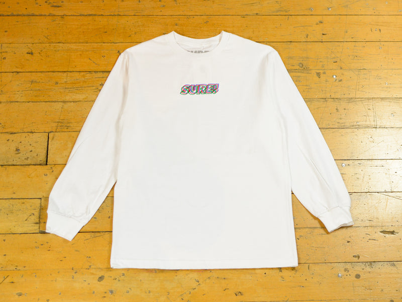 3D Embroidered Logo LS T-Shirt - White