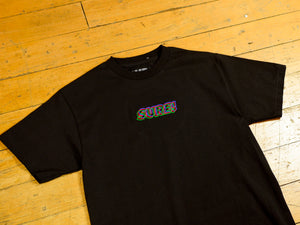 3D Embroidered Logo T-Shirt - Black