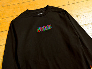 3D Embroidered Logo LS T-Shirt - Black