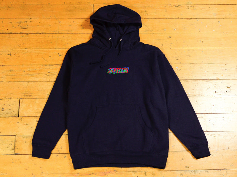 3D Embroidered Logo Hood - Navy