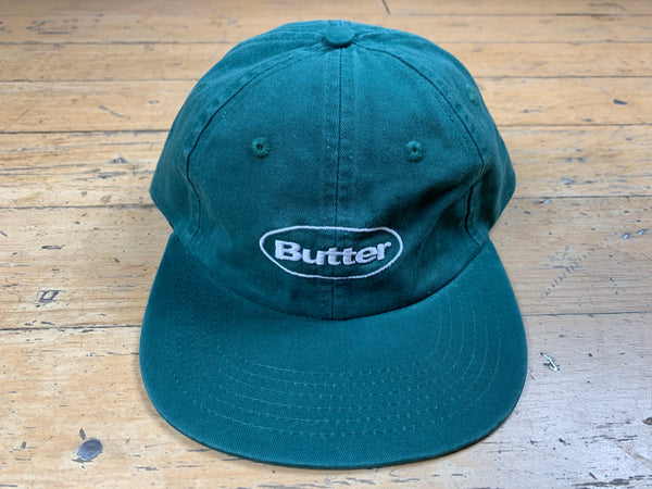 Washed Badge 6 Panel Cap - Forest
