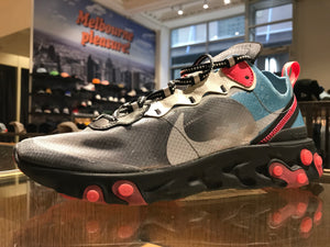 React Element 87 - Black/Cool Grey/Blue Chill/Solar Red