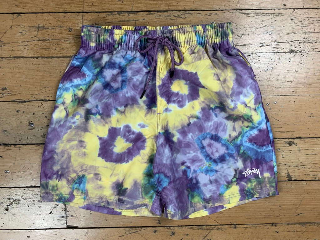 Water Tie Dye Short - Purple