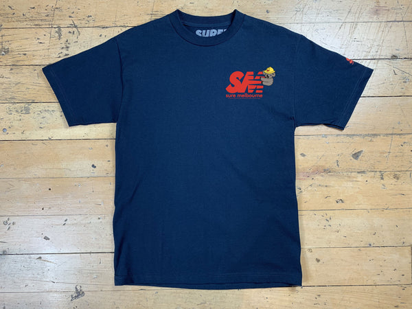 SM Clippy Relief T-Shirt - Navy