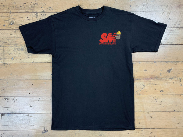 SM Clippy Relief T-Shirt - Black