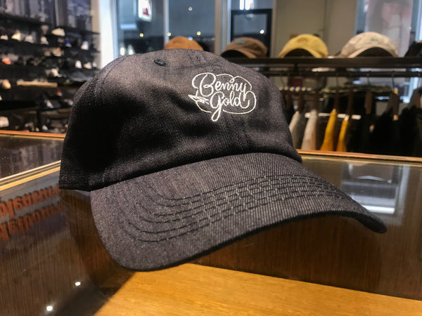 New Script Denim Dad Hat - Indigo