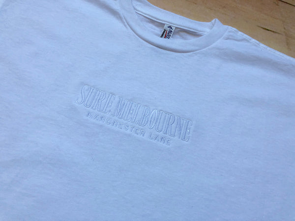 Sure Manchester Lane Embroidered T-Shirt - White