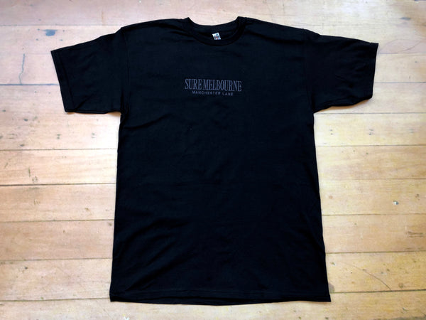Sure Manchester Lane Embroidered T-Shirt - Black