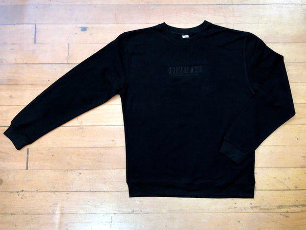 Sure Manchester Lane Embroidered Crewneck - Black