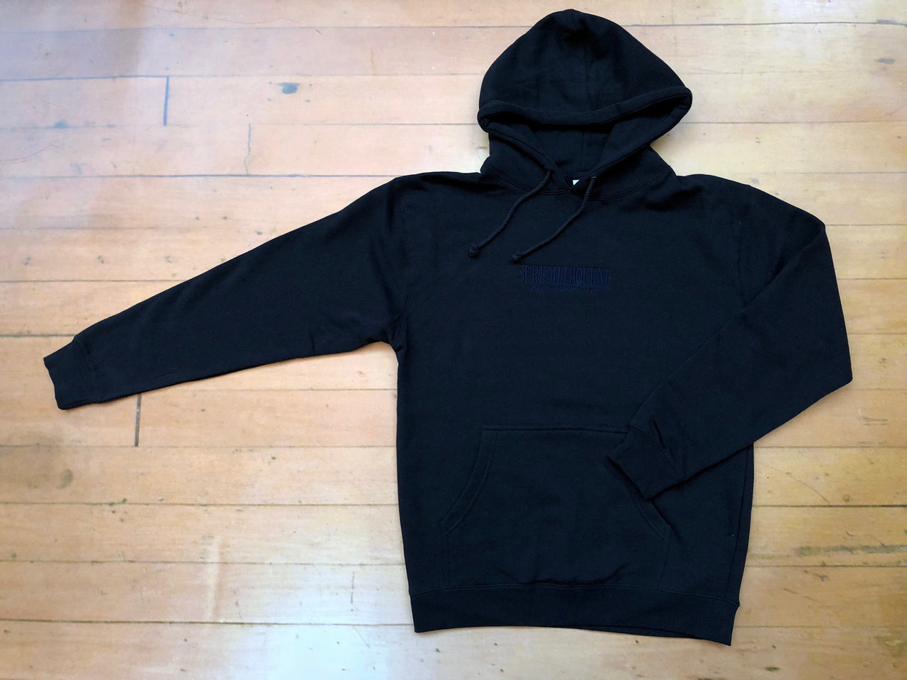 Sure Manchester Lane Embroidered Hoodie - Black