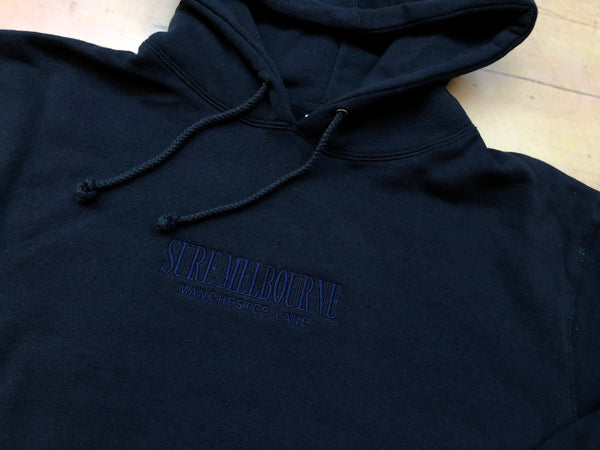 Sure Manchester Lane Embroidered Hoodie - Navy