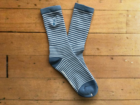 Westside Socks - Light Blue / White