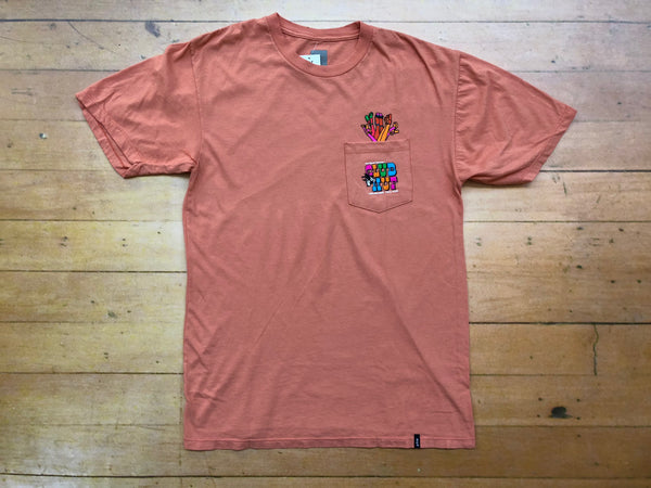 Club Huf Pocket Tee - Coral Haze