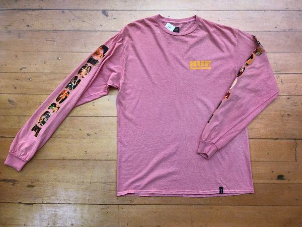 Disaster Long Sleeve Tee - Coral Haze