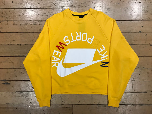 0c0ca92d Nike Sportswear French Terry Crew - Amarillo/White