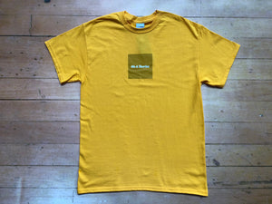 Box Text Logo Tee - Gold