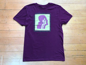 Faces Tee - Plum