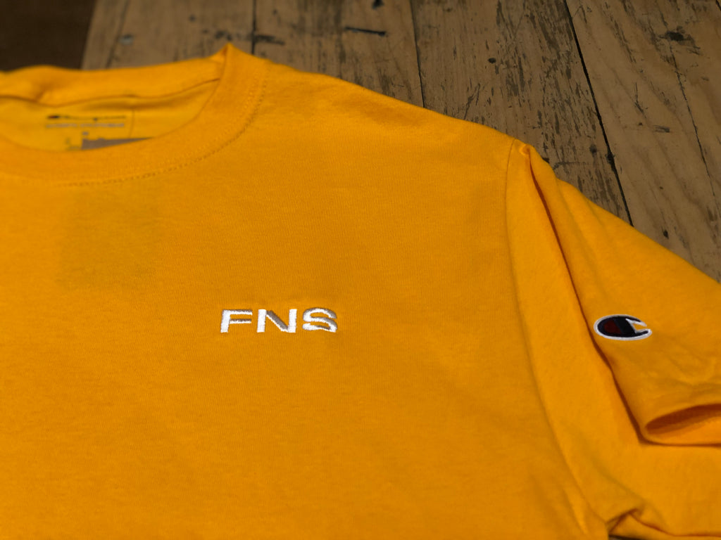 FNS Embroidery T-Shirt - Gold