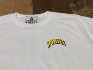 College T-Shirt - White