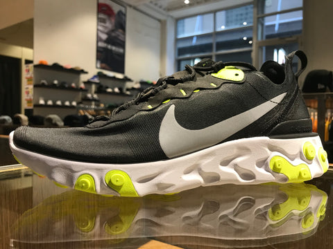 Nike React Element 55 - Black/Wolf Grey/Volt-White