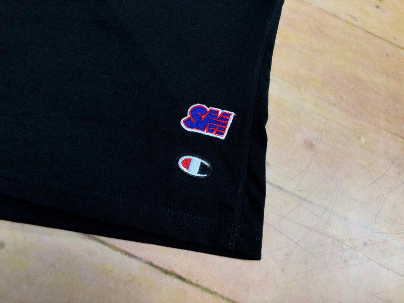 Sure SM Logo Champion Jersey Shorts - Black