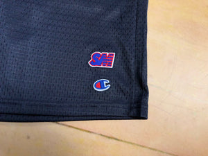 Sure SM Logo Embroidered Champion Mesh Shorts - Navy