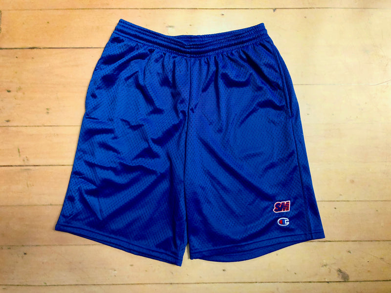 Sure SM Logo Embroidered Champion Mesh Shorts - Royal