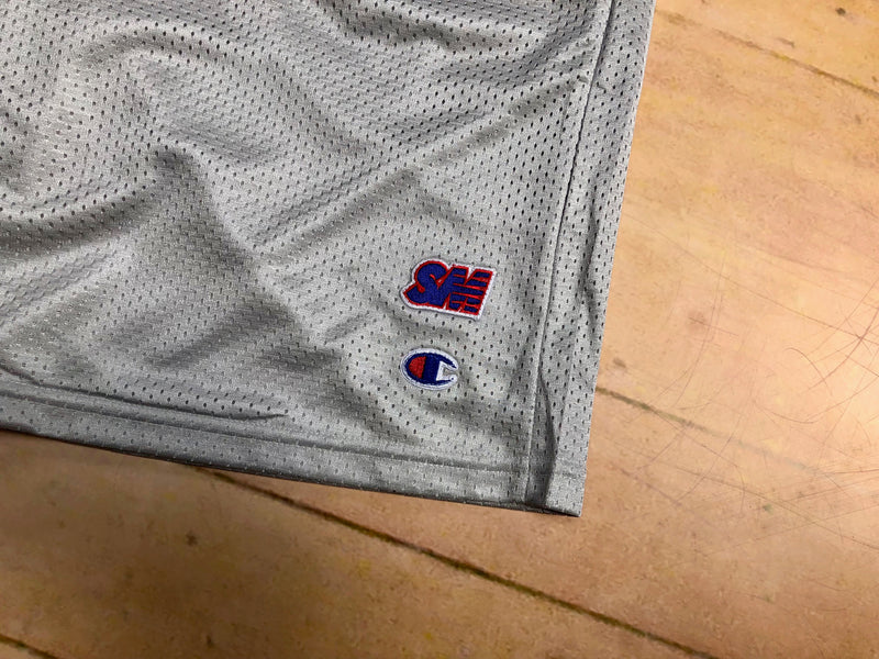 Sure SM Logo Embroidered Champion Mesh Shorts - Grey
