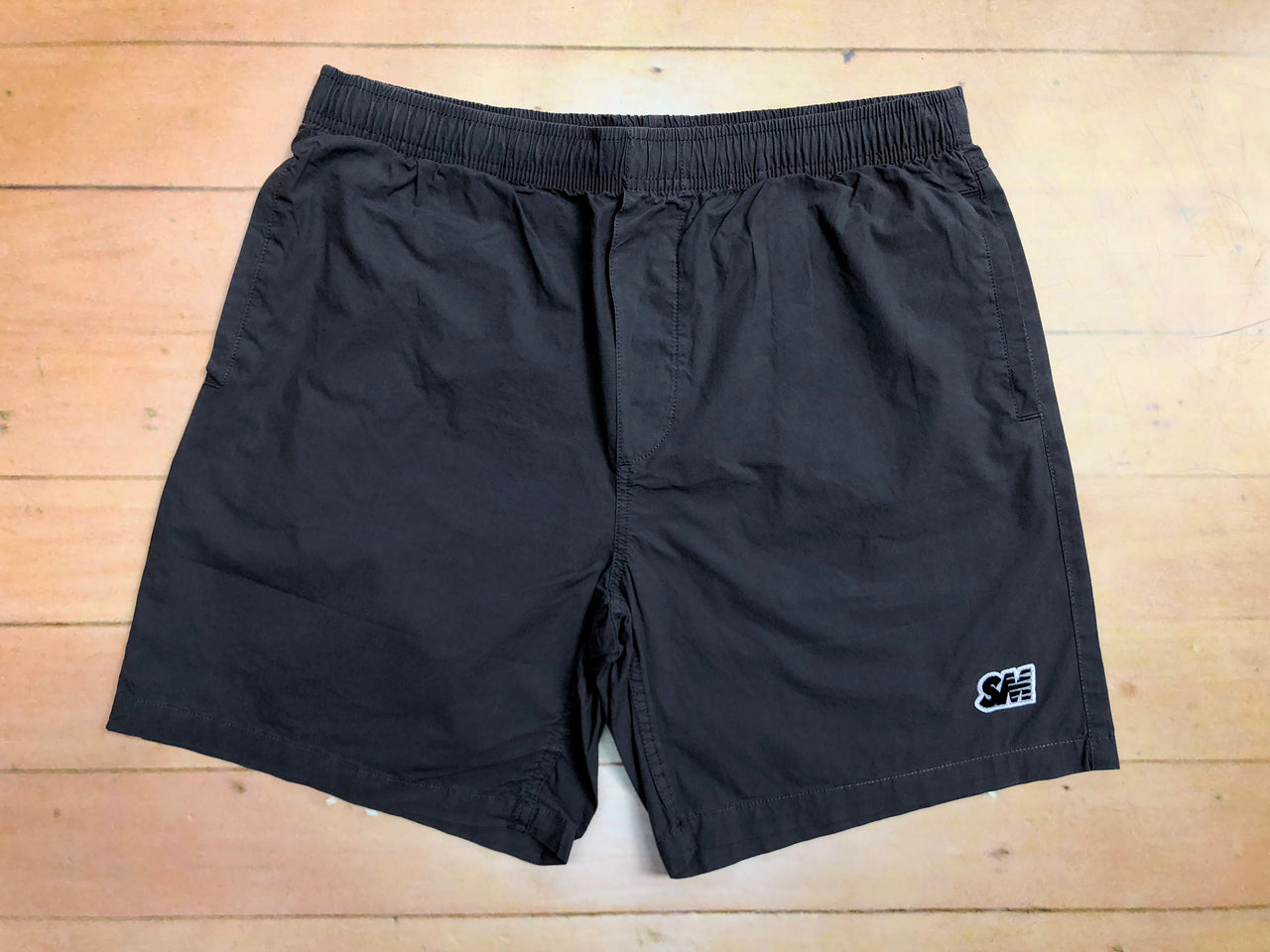 Sure SM Logo Beach Shorts - Charcoal