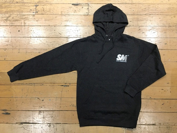 SM Mesh Logo Pullover Hood - Charcoal