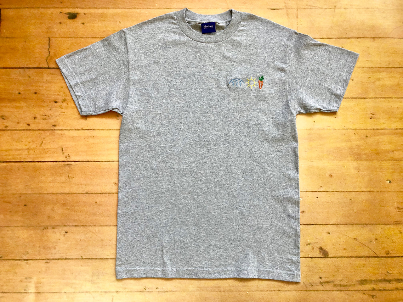 Rain Sun Carrots T-Shirt - Grey