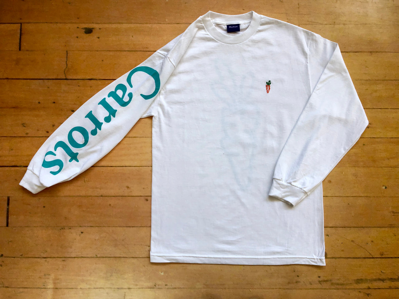 Carrots Logo Long Sleeve T-Shirt - White